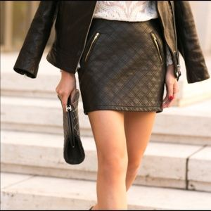 NWT Express faux leather mini skirt